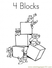 4 blocks Coloring Page - Free Shapes Coloring Pages ...