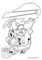 San Diego Chargers - Spongebob - Coloring Pages