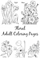 10 Floral Adult Coloring Pages! - The Graphics Fairy