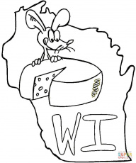 State Of Wisconsin coloring page | Free Printable Coloring Pages