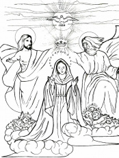 Queen of Heaven coloring page | Mary, Queen of Heaven Lapbook | Pinte…
