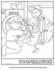 cooperation coloring page