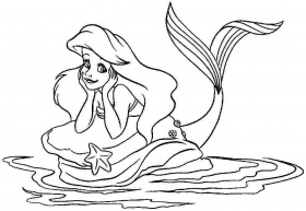 Coloring Pages Disney Princess Ariel For Kids Colouring Sheets