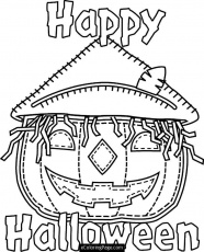 Happy Halloween Pumpkin Coloring Pages | Free Quotes Images