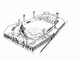 Fenway Park - Boston Red Sox Stadium Coloring Page