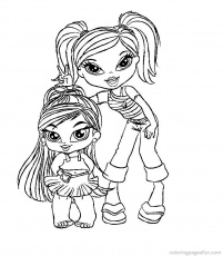 bratz babyz coloring pages to print