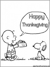 Happy Thanksgiving Snoopy color page | Kid's Dental Coloring Pages & …