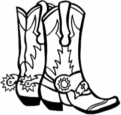 cowboy boots coloring pages