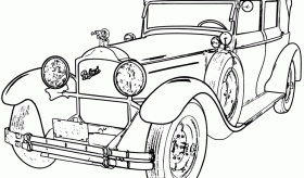 classic car coloring pages printable | Vehicle Pictures