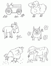 Farm Animals Coloring Pages 361 | Free Printable Coloring Pages