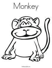 Monkey Coloring Pages | Love coloring pages | #7 Free Printable