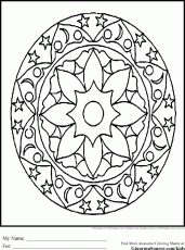 Geometric Patterns For Kids Intricate Design Coloring Pages 295016