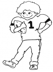 The Child Happy Football Coloring Pages | Super Bowl Party