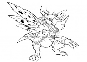 digimon lzumi drawing Colouring Pages (page 2)