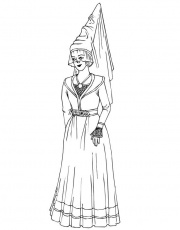 Medieval princess Colouring Pages