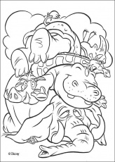The Lion King coloring pages - Safari animals