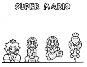 Mario-Coloring-Sheets | Printable Coloring Pages Gallery