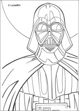 DARTH VADER coloring pages : 11 Star Wars online coloring sheets