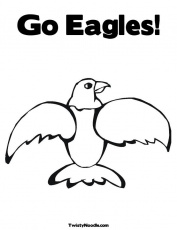 eagles logo Colouring Pages (page 2)