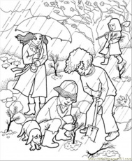Coloring Pages Rain In The Garden (Natural World > Fallouts