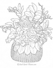 Coloring Pages For Adults Flowers | Top Coloring Pages