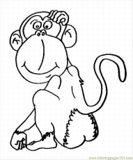 Free Printable Coloring Page Cloring Pages Of Monkeys 2 Lrg