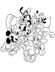 mickey mouse daisy Colouring Pages (page 2)