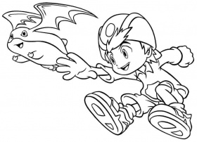 Coloring Pages Cartoon Digimon Printable Free For Kids & Boys #