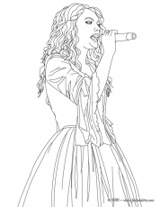taylor swift printable coloring pages