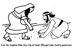 ananias and sapphira coloring page