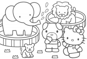 Hello Kitty Coloring Page Coloring Pages | download free printable