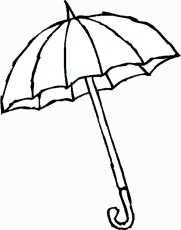 Umbrella Printable Coloring Home