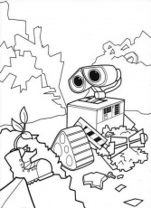 WALL E Stacks Of Garbage Coloring Page Coloringplus 259921 Wall-e
