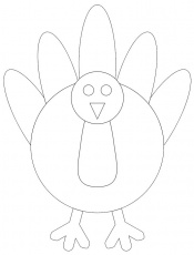 turkey template printable