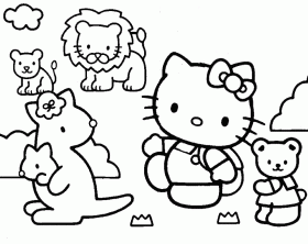 Hello Kitty Coloring Pages Printable - Free Coloring Pages For