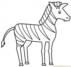 cute baby zebra Colouring Pages (page 2)