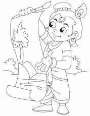 krishna baby photo colouring pages