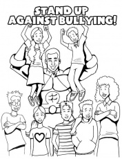 girls bully Colouring Pages