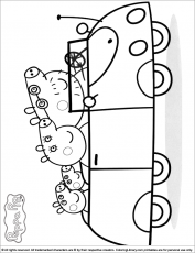 Peppa Pig coloring picture