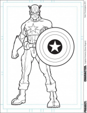 Avengers Captain America Coloring Page For Kids