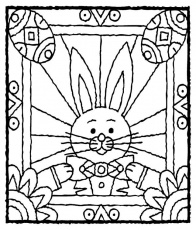 Easter bunny stained glass window | school - Easter