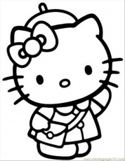 Coloring Pages Hellokitty4 (Cartoons > Hello Kitty) - free