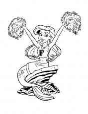 Little Ariel With Grimbsby Coloring Page | Kids Coloring Page