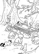 Snow White And The Seven Dwarfs Coloring Pages 2