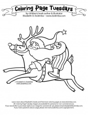 dulemba: Coloring Page Tuesday - Reindeer Ride!