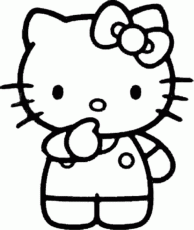 Pix For > Kitty Clip Art Black And White