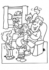 Fathers day coloring pages printables Mike Folkerth - King of