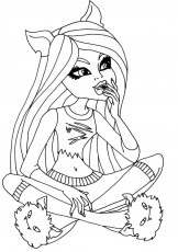 Clawdeen Wolf Dead Tired Coloring Pages