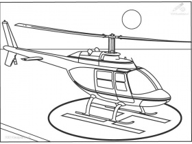 Excitement And Fun With Helicopter Coloring Pages