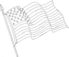 flag coloring pages for kids